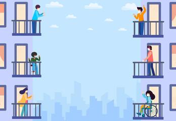 Balcones sociales: una historia de tantas by Vanessa Garbajosa